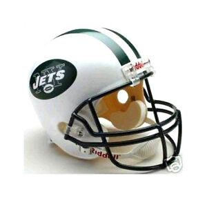 NEW YORK JETS NFL RIDDELL DELUXE REPLICA FULL SIZE FOOTBALL HELMET ... 874dbf4ee