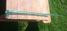 """Antique Glass Cane Teal-aqua Color Twist Design 45"""" tall 90• Handle"""
