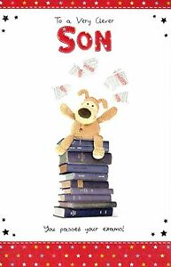 Boofle clever son you passed exams congratulations card greeting image is loading boofle clever son you passed exams congratulations card m4hsunfo