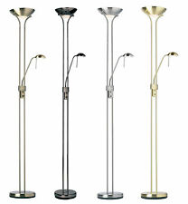watch d92fc 95efb Endon Mother and Child Floor Lamp Various Colours Available Satin Brass