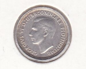 CB576-Australia-1942-Melbourne-3d-almost-uncirculated-Rare-coin-with-lustre
