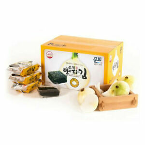 Korean Onion Roasted Seasoned Laver Seaweed Dried Snack Nori K-Foods 문경미소 양파김