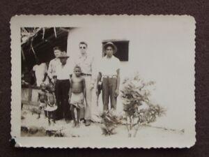 soldiers with south pacific islanders holding a ukulele banjo vtg 1944 photo ebay. Black Bedroom Furniture Sets. Home Design Ideas