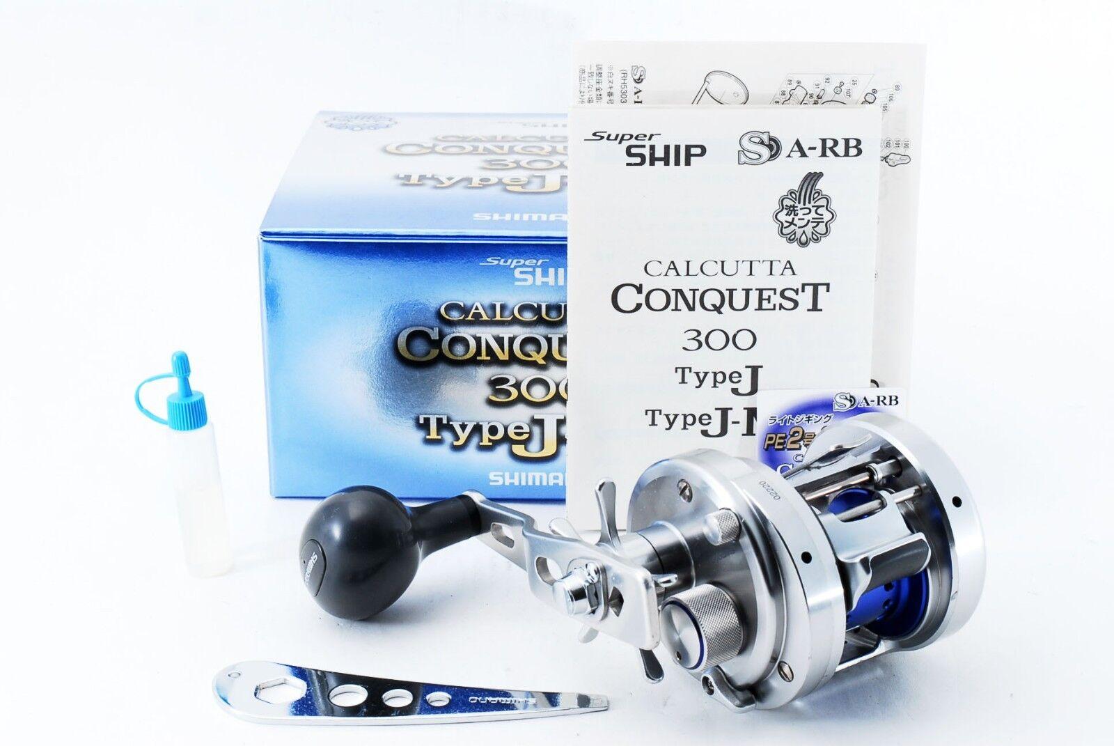 Excellent Shimano CALCUTTA CONQUEST 300 Type J-M RH Jigging  Reel 254389  best fashion