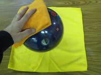 Tenpin Duckpin Bowling Microfiber Bowling Ball Cleaning Towels- 3 Yellow