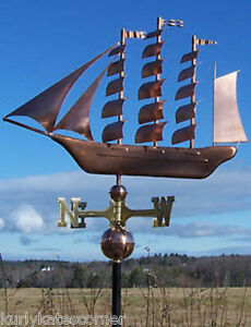 COPPER-034-TALL-SHIP-034-WEATHERVANE-MADE-IN-USA-150