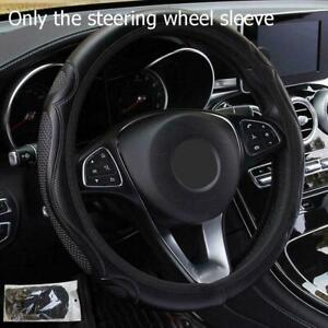 Black-Car-Steering-Wheel-Cover-Quality-Leather-Breathable-Anti-slip-Best-37-E4Q6