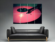 Pink Vinyl DJ Platine  Wall Art Poster Grand format A0 Large Print
