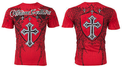 Xtreme Couture AFFLICTION Men T-Shirt PROVOKE Skulls Tattoo Biker UFC M-4XL $40