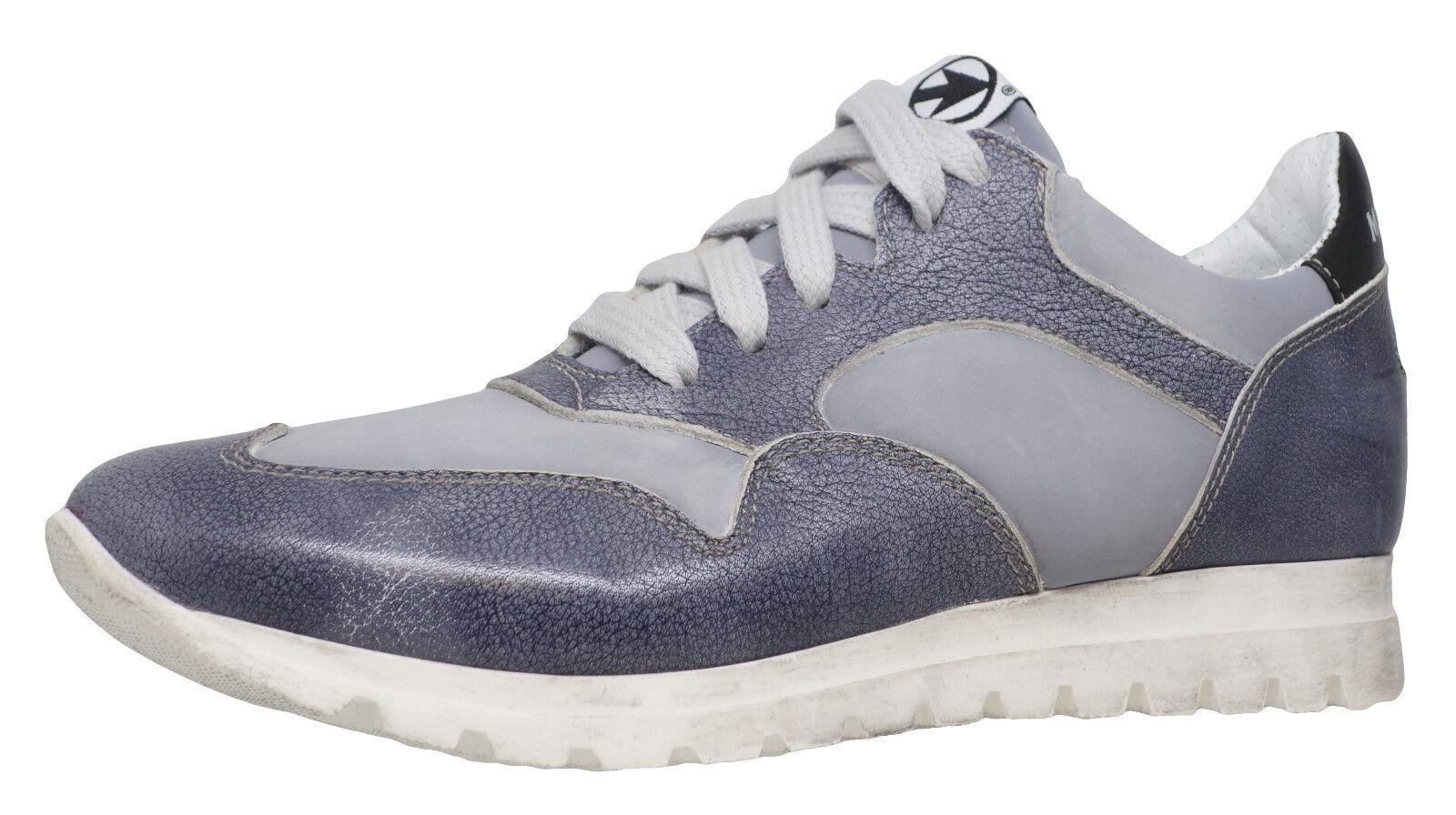 Momino 3680V coole Leder Sneakers Schuhe Neu  Grau Handarbeit Gr.35-40 Neu Schuhe ad0d02