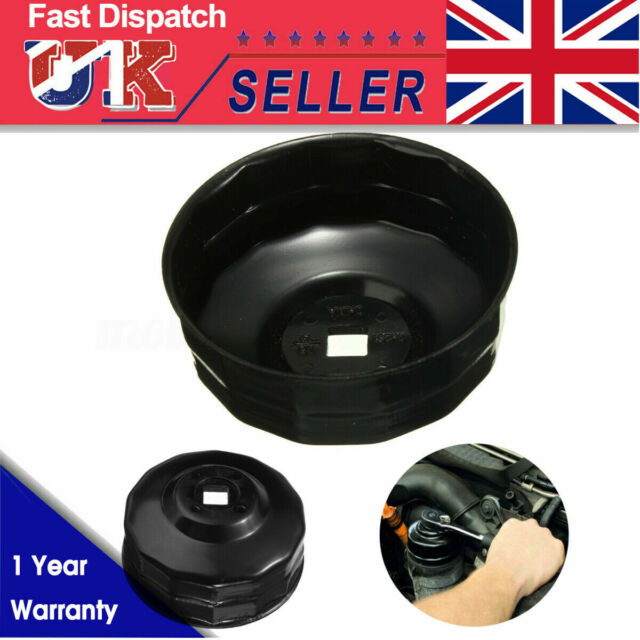 84mm 14 Flutes Oil Filter Cap Wrench Socket Cup Tool for Vehicle Car U5P3