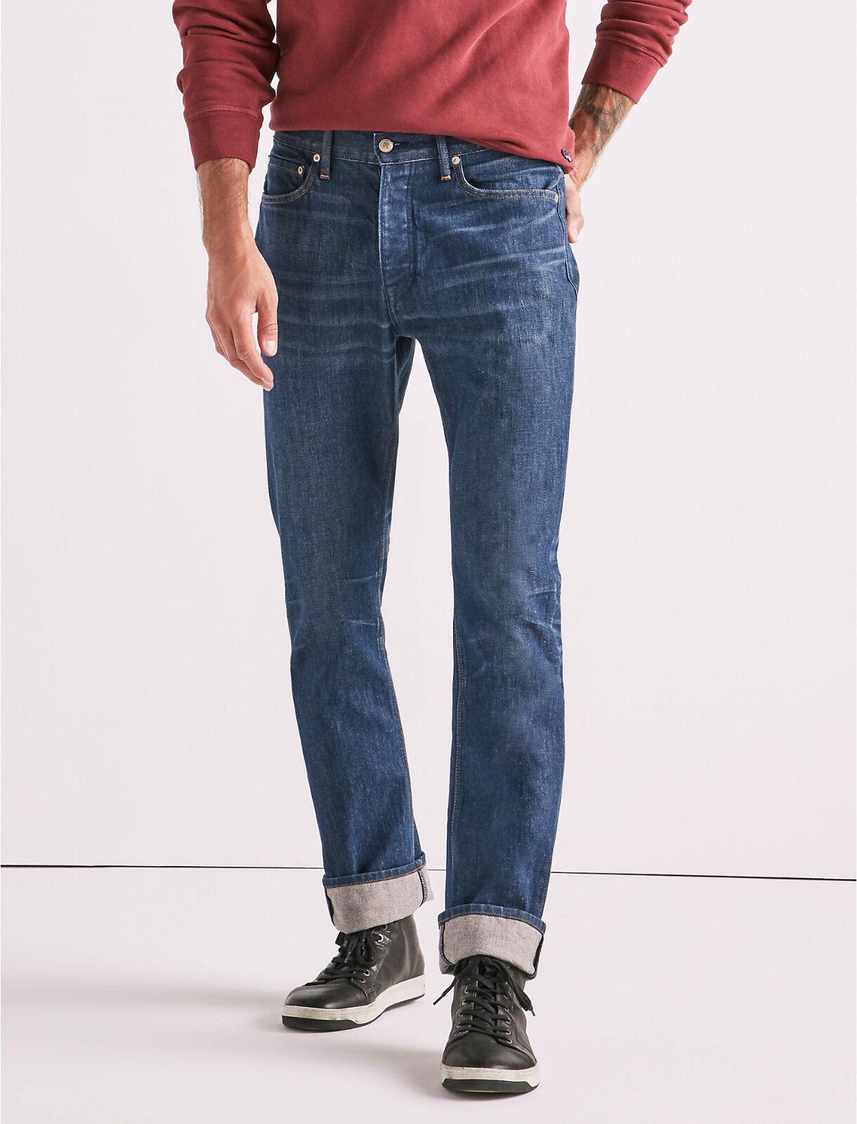 Lucky Brand Hergestellt in USA 410 Athletic Schmal Herren Kegel Jeans 34x32