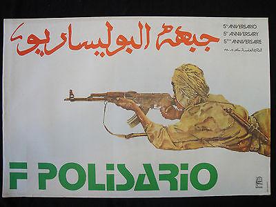 OSPAAAL Political Poster Polisario Morocco Africa WAR 1978 5th Anos CUBAN ART