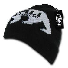 Black California Republic Cali Bear Monster Cuffless Short Beanie Skull Knit Hat
