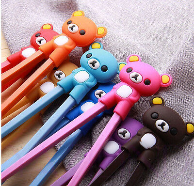 New Pretty Bear Rubber Children training chopsticks randomization sent & 1pairs