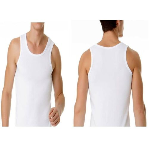 NEW MENS WHITE 100% COTTON SINGLET TOP CHESTY TOP TSHIRT SHIRT MEN'S UNDERWEAR