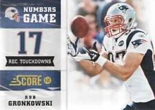 2012 Score Glossy Numbers Game #4 Rob Gronkowski Patriots