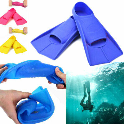 Swim Training Children Swimming Fins Full Foot Diving Flippers Pool Water Sports
