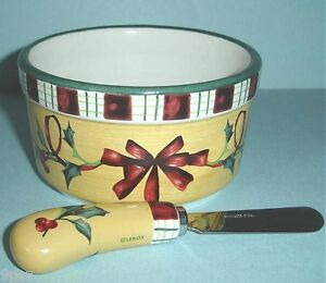 Lenox lenox winter greetings everyday dip bowl with spreader 2 piece set new in box m4hsunfo