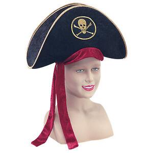 # Pirate Chapeau De Luxe Velours Déguisement Adulte