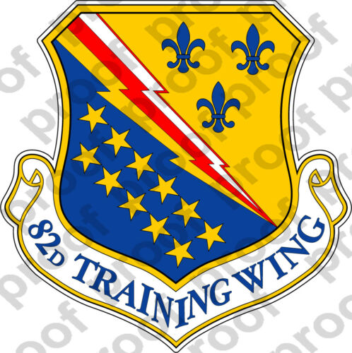 STICKER USAF 82ND TRAINING WING
