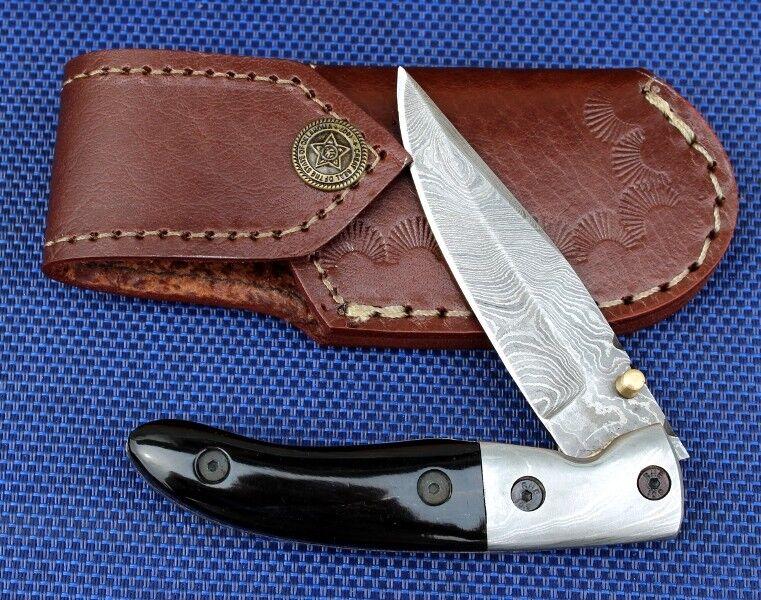 COLTELLI damasco coltello handmade 256 strati vero bufali CORNO  280