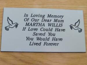 LPT13 Personalised Engraved Marrige Celebration Plaque Various Sizes.