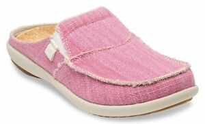 Spenco-Womens-Siesta-Canvas-Orthotic-Slides-Pink