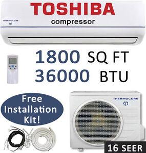 Image Is Loading 36000 Btu Ductless Mini Split Air Conditioner Heat