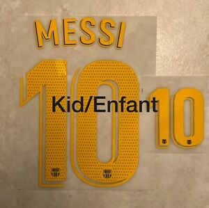Flocage Nameset MESSI #10 Barca 2019-2020 Domicile Home. La LIGA Kid Enfant