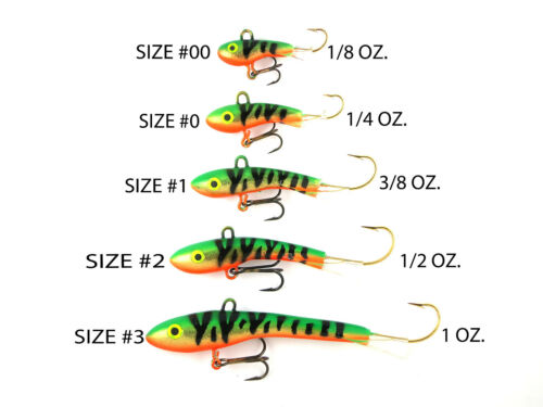 "MOONSHINE LURES METALLIC SHIVER MINNOW SIZE #1 2-1//4/"" 3//8 oz SILVER SHINER"