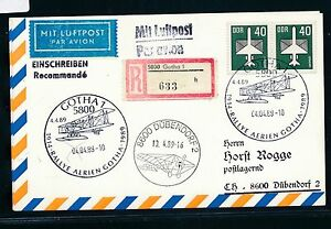 97405) Rda Gotha 75 J. Air-rallye..., Lp-reco-carte 1989 In La Suisse-., Lp-reco-karte 1989 In Die Schweizfr-fr Afficher Le Titre D'origine