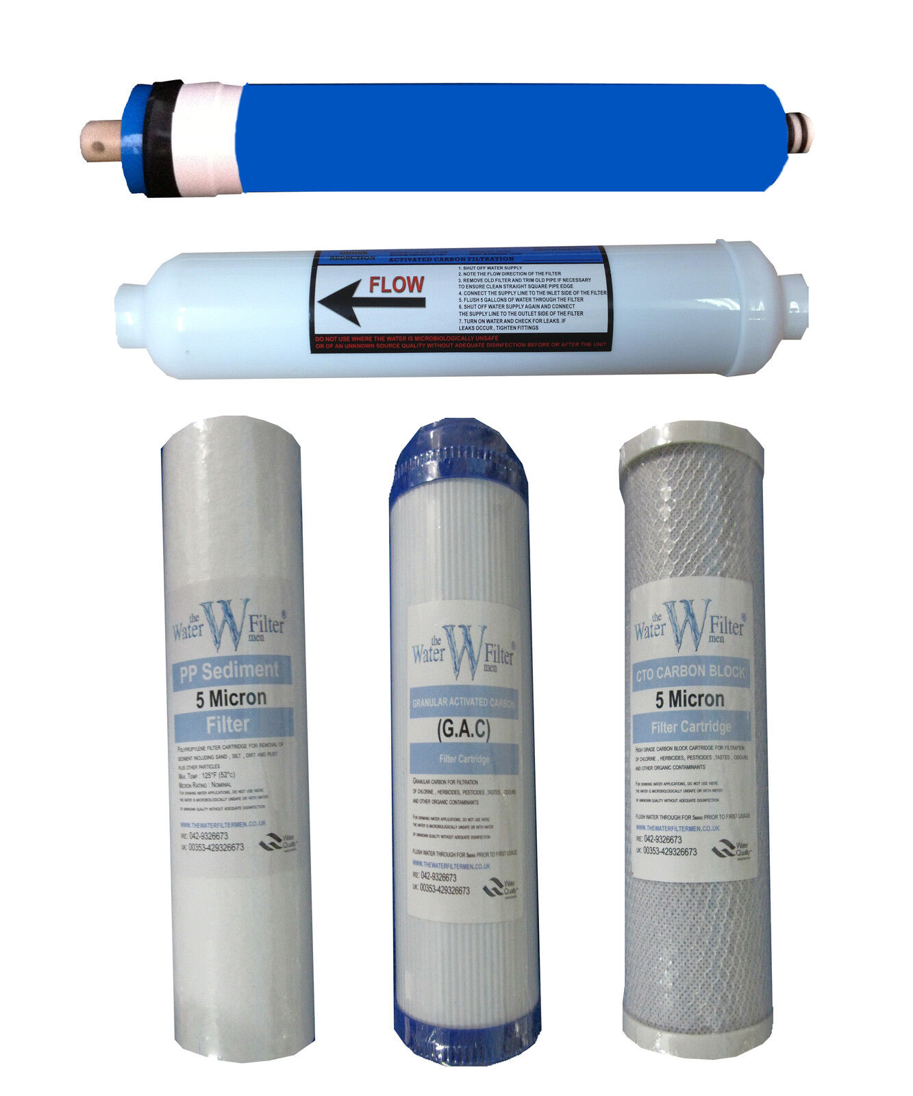 REVERSE OSMOSIS 5 STAGE WATER SYSTEM RO FILTER SETS X 15