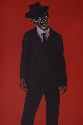 Mens Adult Dead Zombie Gangster Walking Pimp Mobster Suit Hat Mask XL L M NEW