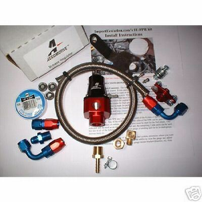 MAP AFPR Fuel Pressure Kit AEM Regulator Stainless Hose for 1G DSM Eclipse Talon