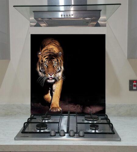 Splashback Toughened Glass  Modern Unique Kitchen Prowling Tiger   Any Sizes