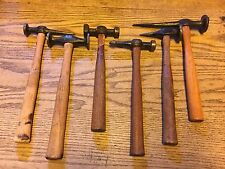 """LOT OF 6 VINTAGE AUTO BODY HAMMERS-3 MARKED """"STREAM LINE TOOLS"""""""