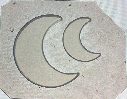 Crescent Moon Mould Large /& Small Flexible Resin Mold Set of 2 Half