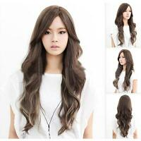 Fashion cosplay lolita wig women Lady full long curly wavy light brown hair wig#