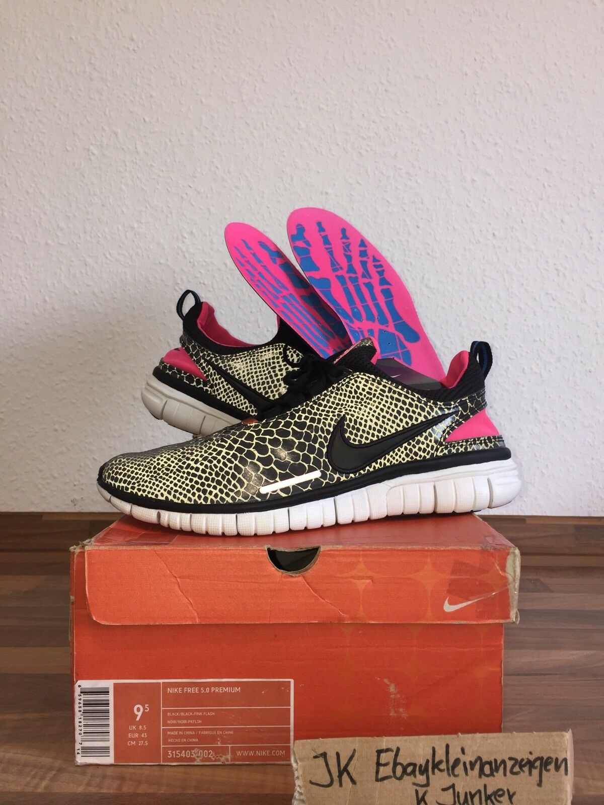 Nike Free 5.0 x Atmos 3M 9,5 43 Safari elephant air max jordan 1 react solebox 4