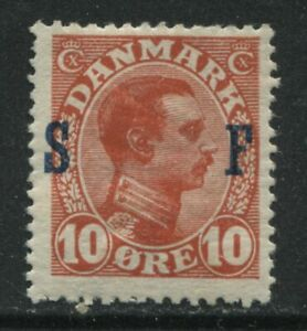 Denmark 1917 Military stamp 10 ore mint o.g. hinged