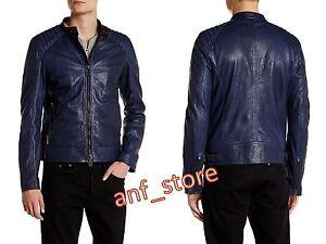NWT-Belstaff-K-Racer-Beckham-Leather-BLUE-Moto-Mens-Jacket-L-IT-52-US-42-1500