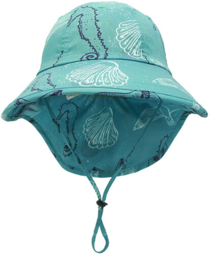 Bucket Sun Hat Boys Fishing Details about  /Connectyle Kids UV Sun Protection Flap Hat UPF 50