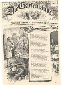 Reinhard Marie - Weihnachtstraum einer Einsamen - 1902 - alter Druck - old print - Reiskirchen, Deutschland - Reinhard Marie - Weihnachtstraum einer Einsamen - 1902 - alter Druck - old print - Reiskirchen, Deutschland