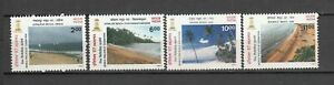 India-1997-MNH-Set-of-INDEPEX-97-Beaches-of-India-Stamps
