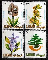 1984 Flowers Scott# 481-484 (4)  MNH  Lebanon