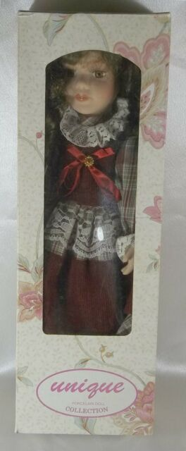 "Collectible 16""  Lena Doll By Unique Porcelain Doll Collection COA New in Box"