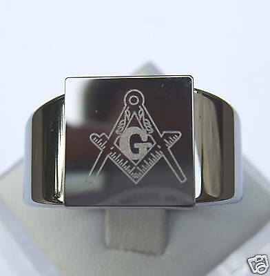 Disciplined Masonic Freimaurer Ring Wolfram/tungsten Titan Hart 100% Guarantee Jewelry & Watches