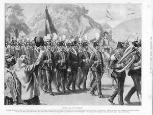 1899-Antique-Print-GERMANY-Miners-Gala-Day-Festival-Parade-Marching-Band-269