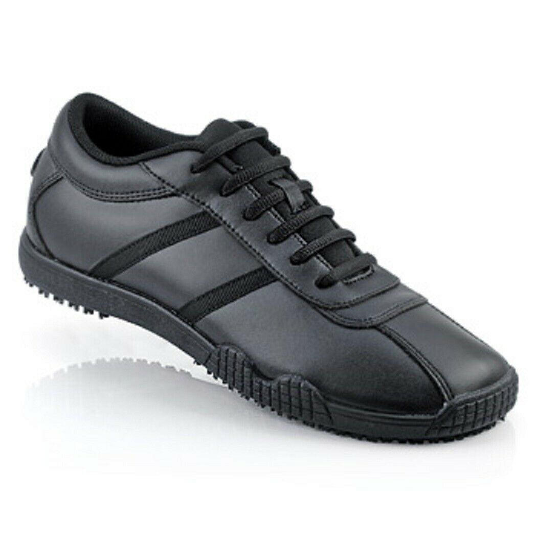 Sfc Shoes For Crews Jazz Chaussures Cuir Noir 9031 Large Taille 8/38.5 Neuf